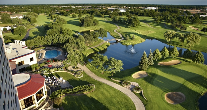 Aerial Golf View